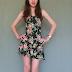 Meu look com vestido florido Romwe