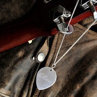 Sterling Silver Personalized Guitar Pick Necklace