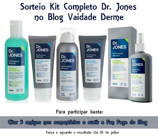 Sorteio Kit Completo Masculino Dr. Jones no Blog Vaidade Derme