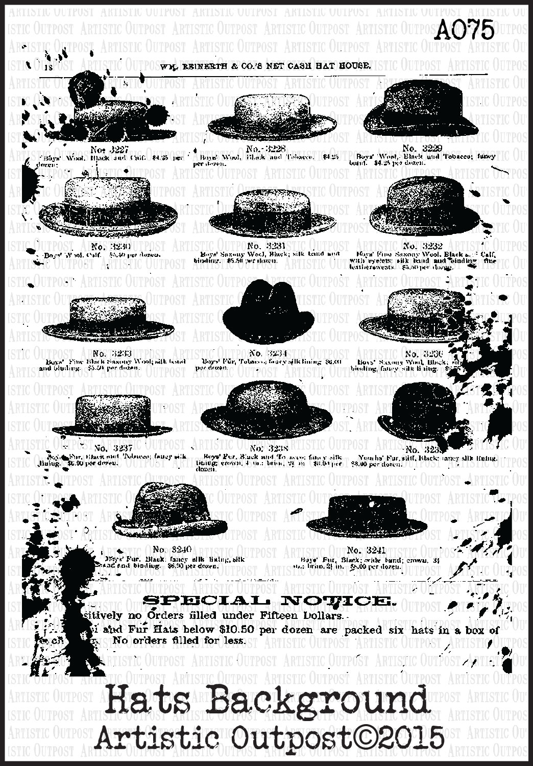 Stamps - Artistic Outpost Hats Background
