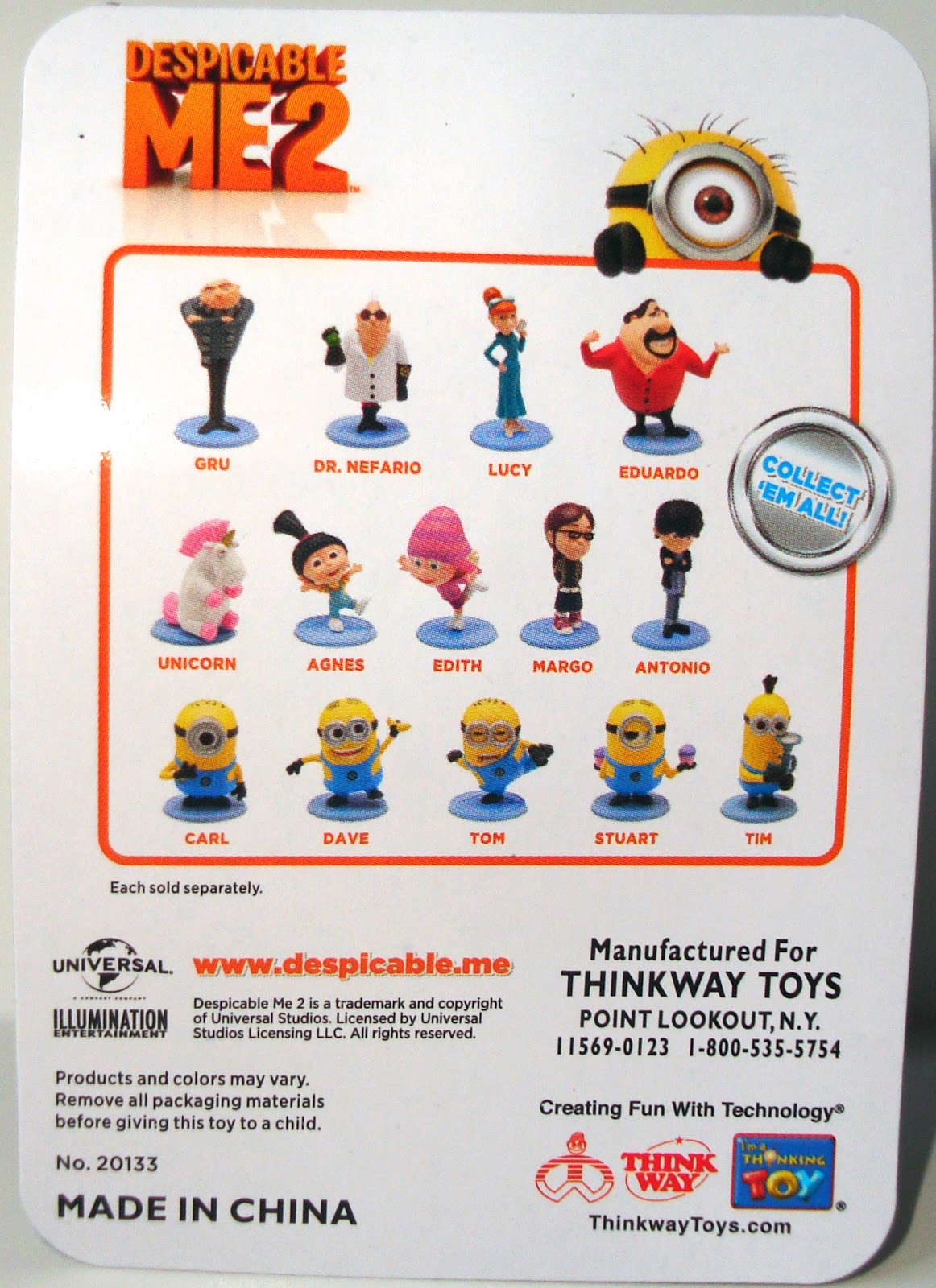 Despicable Me Minions Names List Thinkway toys x despicable meDespicable Me Minions Names List
