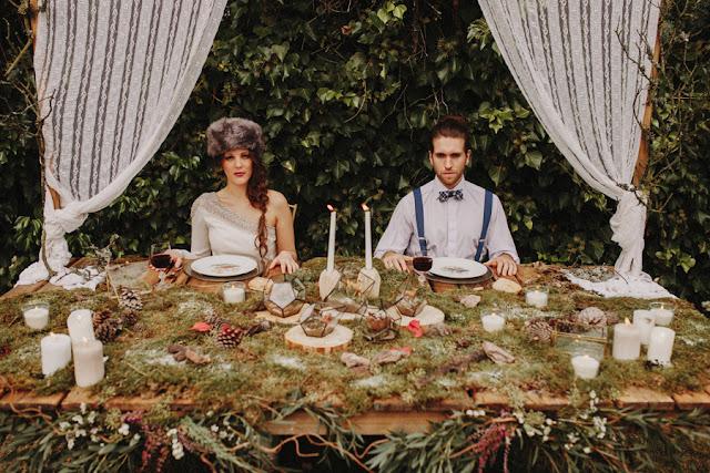 Blog Mi Boda - Editorial Wild Christmas - Wedding deco - forest deco