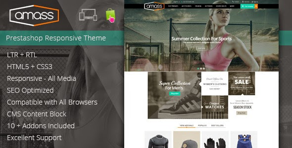 New Prestashop Responsive Theme
