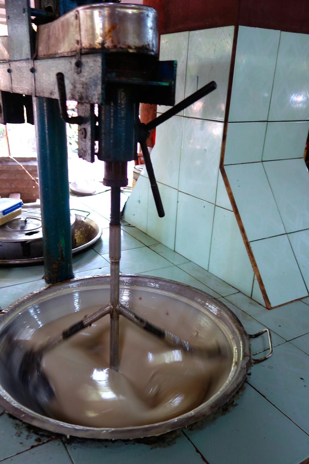 Coconut candy factory Mekong Delta Vietnam 2015