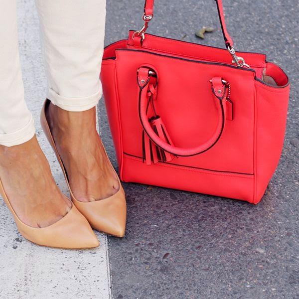 look com bolsa vermelha