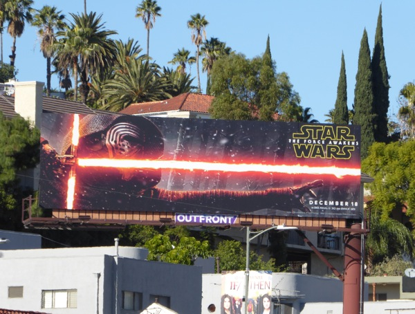 Star Wars Force Awakens Kylo Ren billboard