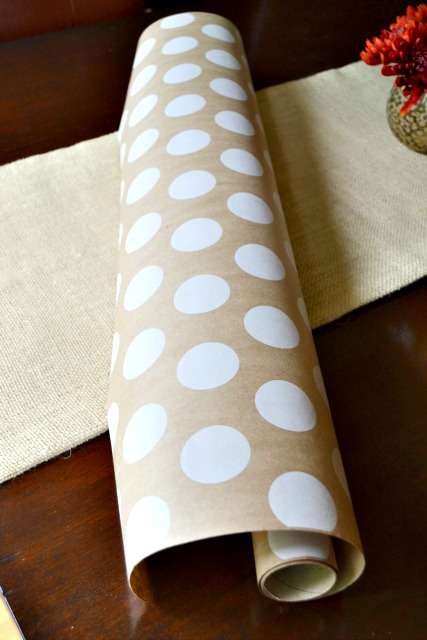 meg dots craft paper gift wrap