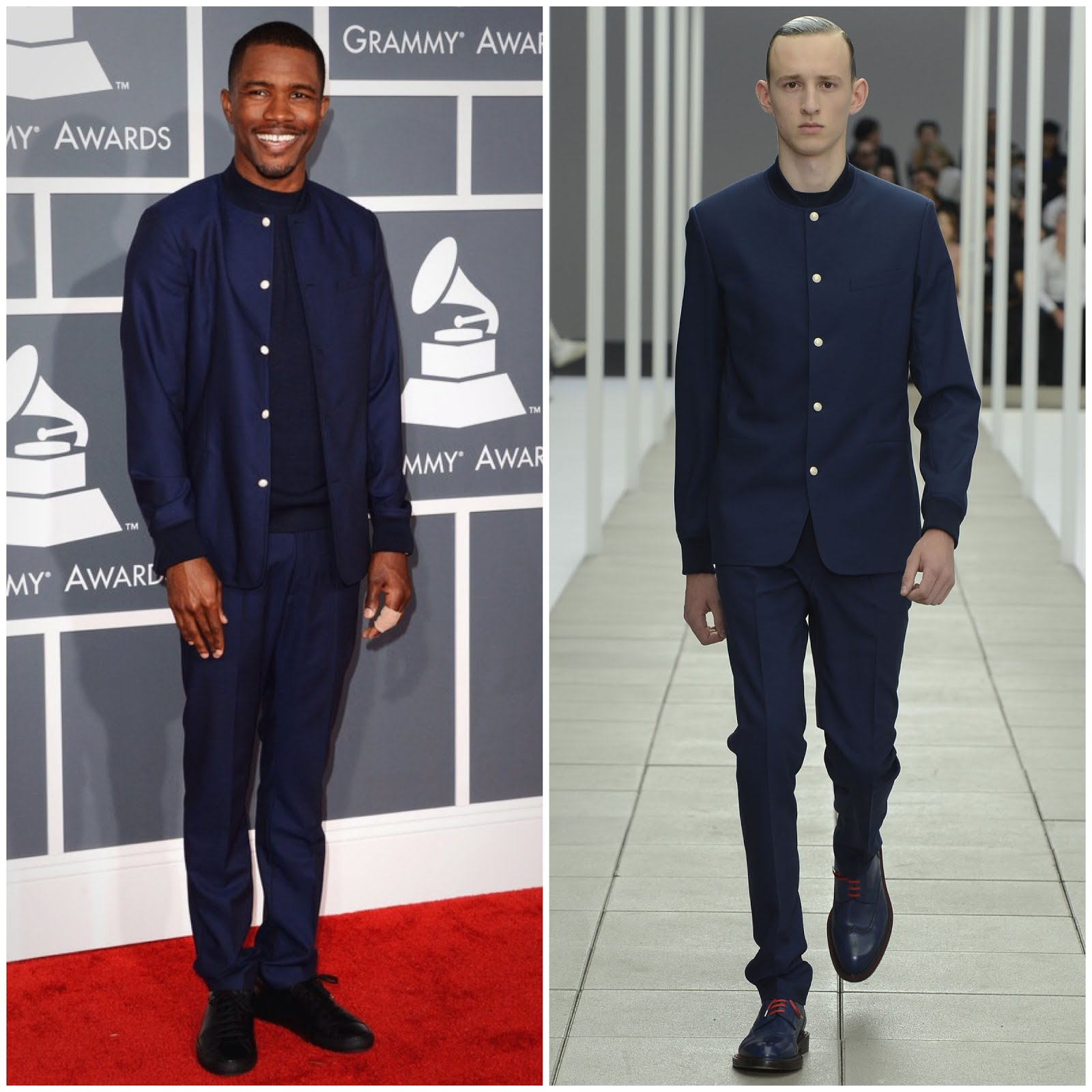 00O00 Menswear Blog Frank Ocean in Dior Homme Spring Summer 2013 - 55th Annual GRAMMY Awards at Staples Center on February 10, 2013