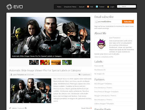 Evo Blogger Theme