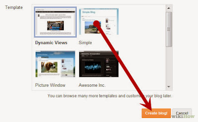 Klik Create Blog