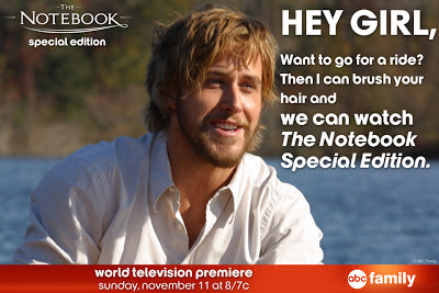 Ryan Gosling wants to to watch the Special Edition of The Notbook