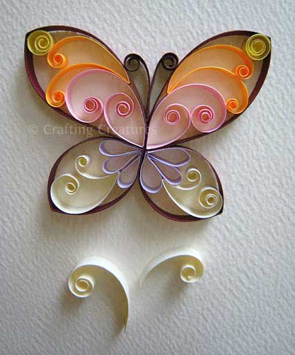 Easy paper quilling butterfly for kids ideas arts and for Paper quilling art projects