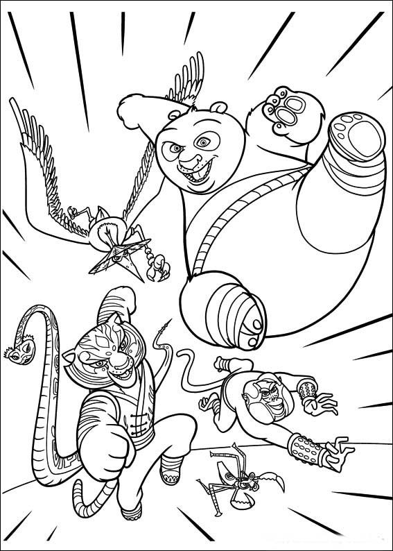 Coloring pictures for Kung fu panda 2 coloring pages