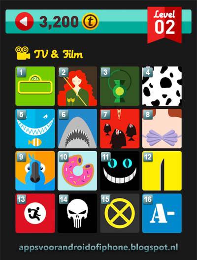 Icon Pop Quiz Level 2 TV & Films: cheats, hints, oplossingen en antwoorden