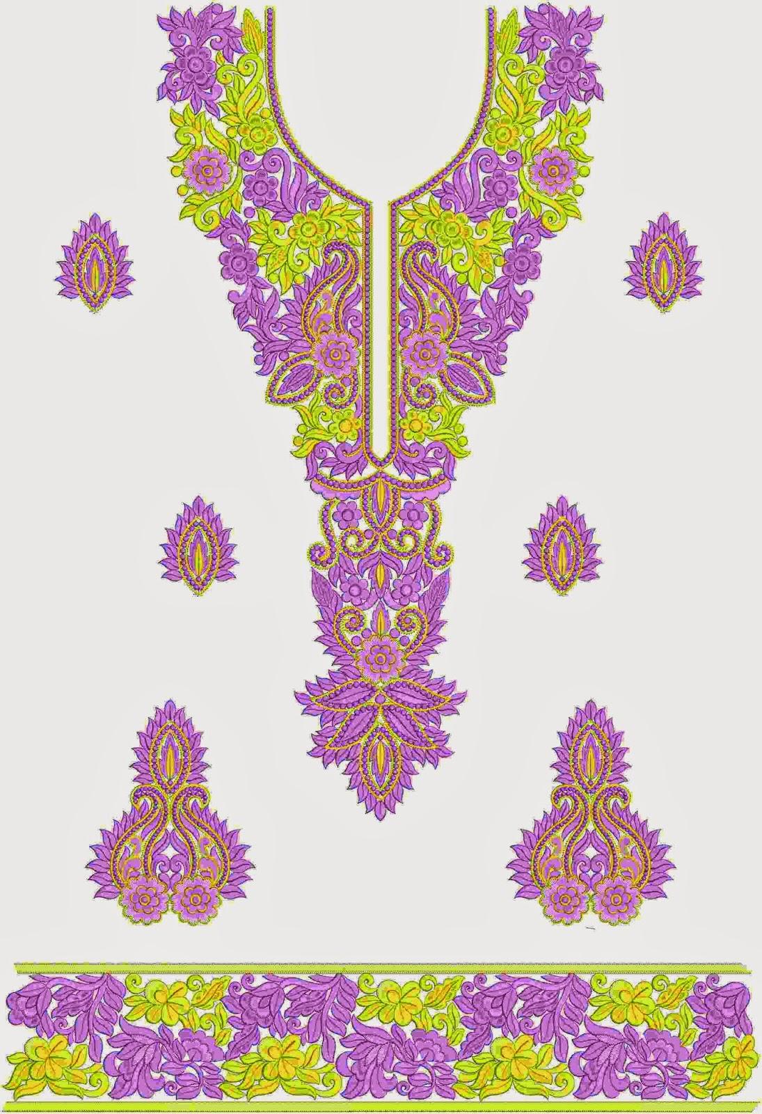 borduurwerk naalde Anarkali rok