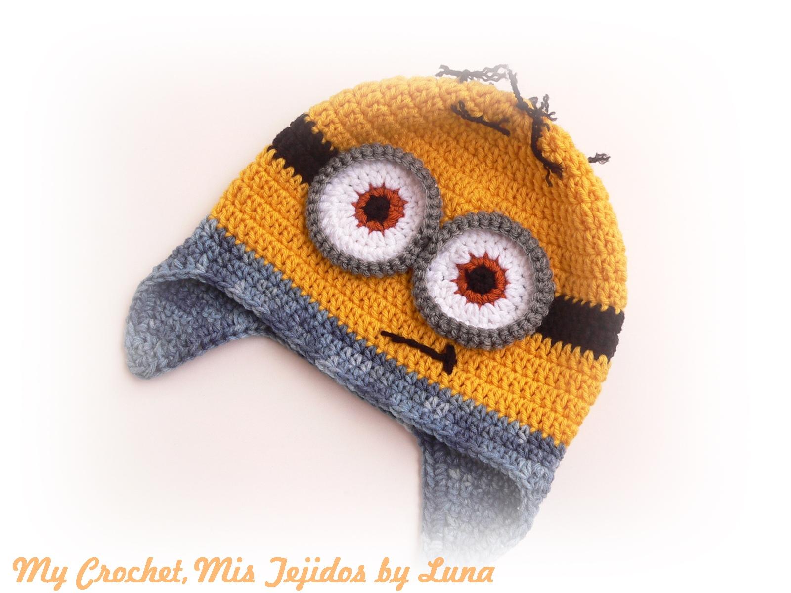 Excepcional Minion Patrón De Crochet Sombrero Composición - Manta de ...