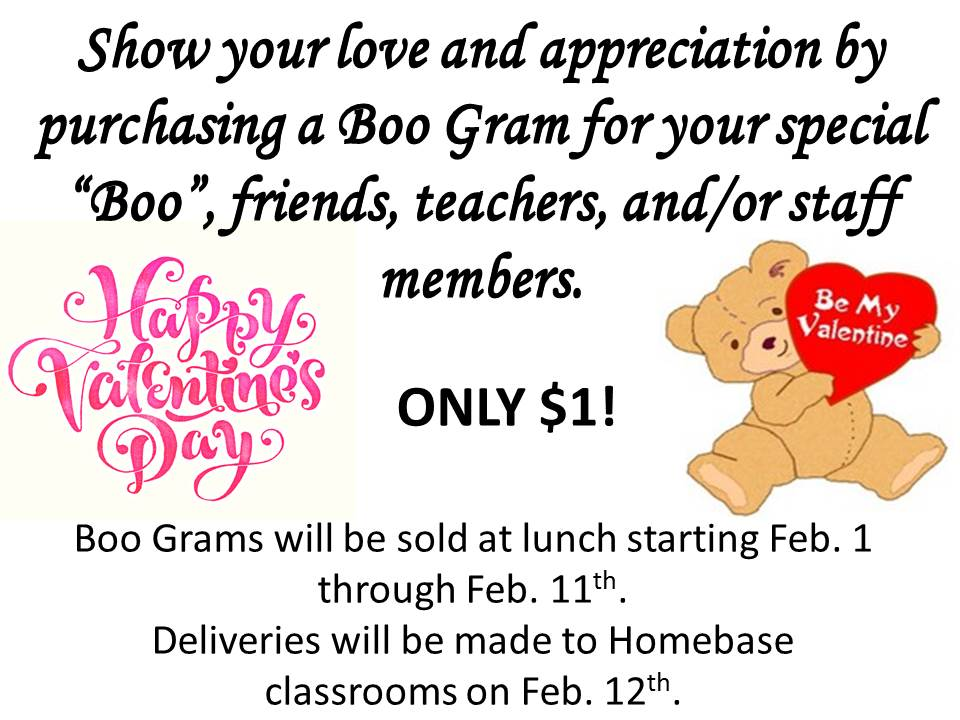 stms 6th grade: valentine's day boo gram, Ideas