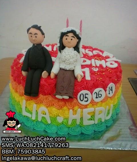 Kue Tart Ulang Tahun Pernikahan Daerah Surabaya - Sidoarjo