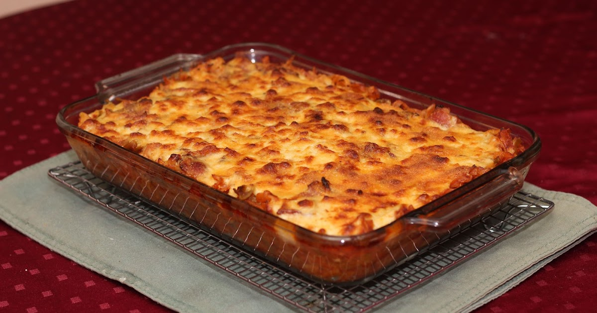 El recetario de mylene pasta napolitana con salsa blanca - Macarrones con verduras al horno ...