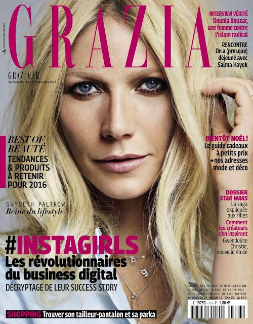 Actress, Singer, @ Gwyneth Paltrow - Grazia France, December 2015