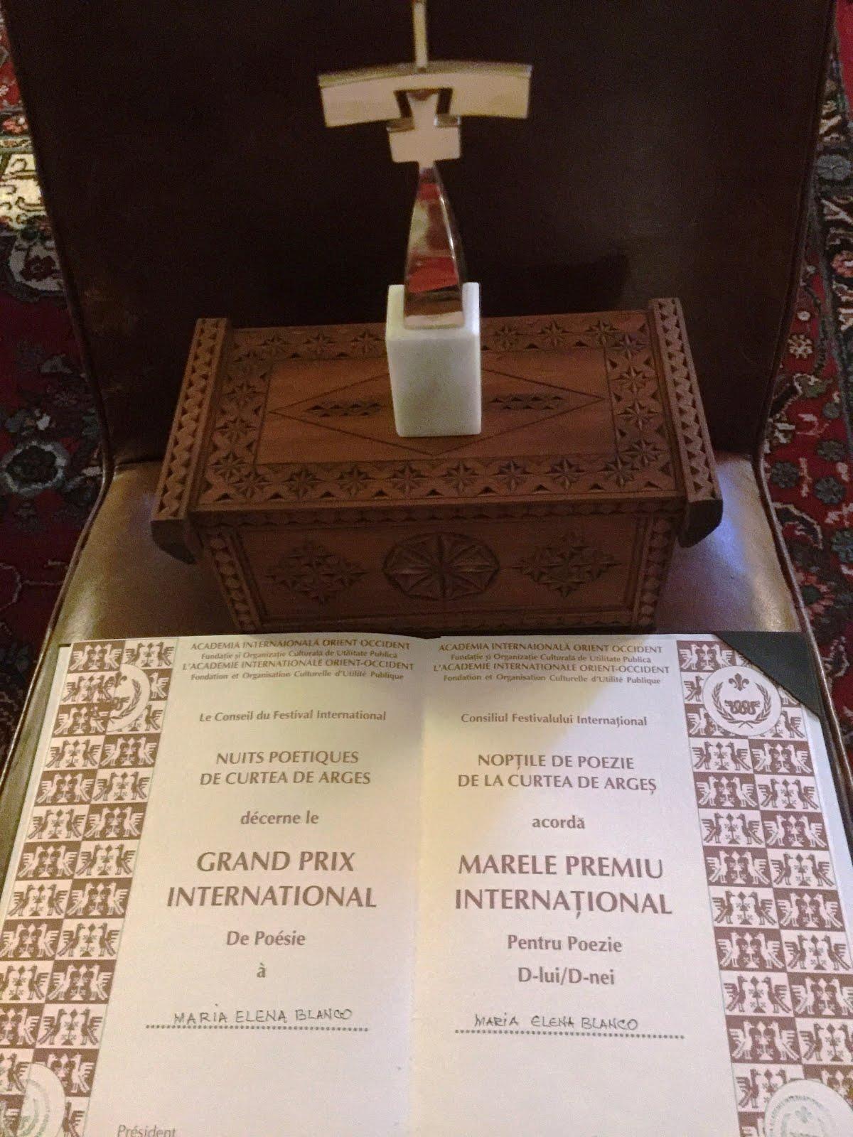 GRAN PREMIO INTERNACIONAL DE POESÍA 2016