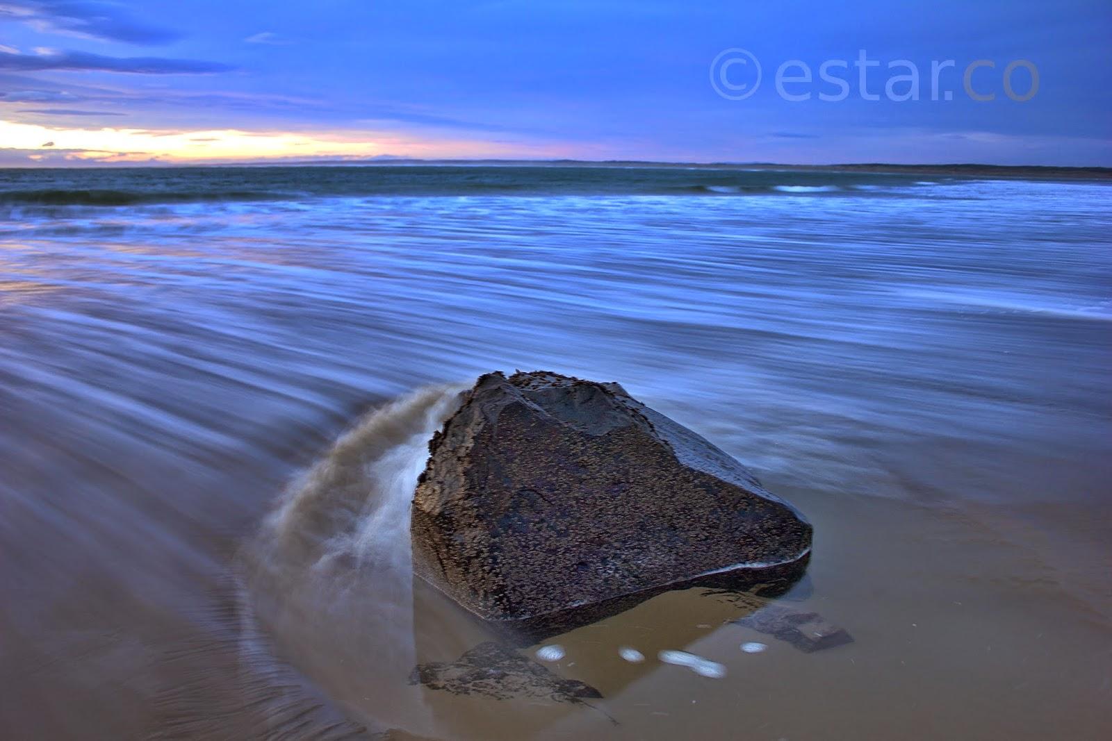 Long exposure shot of the ocean