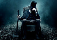 Abraham Lincoln vampire hunter with axe