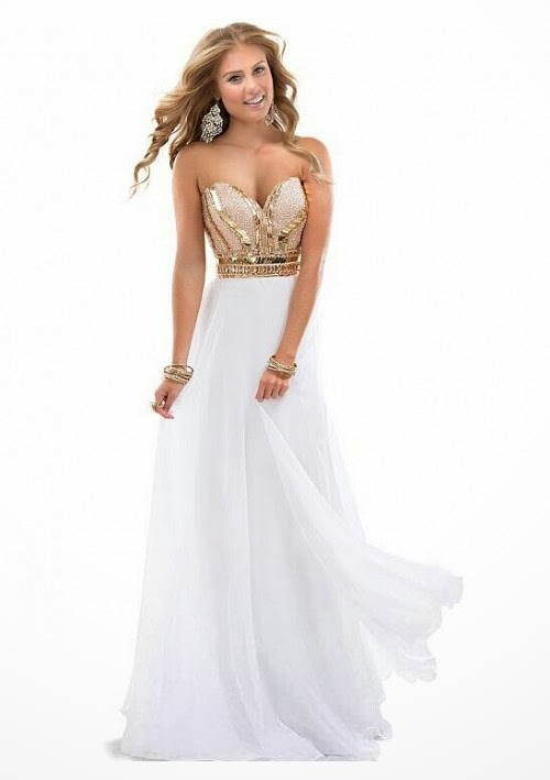 Top 5 White For Prom Dresses 2015 | Prom gowns and wedding bridal