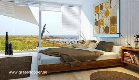Cuarto dormitorio en un módulo separado sobre la misma plataforma