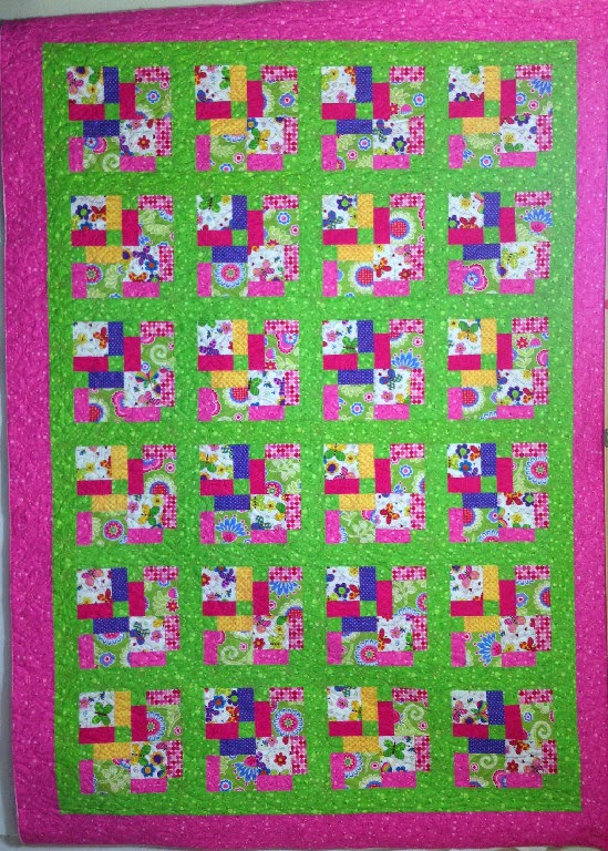 Leanne Strum Pink and Lime Quilt