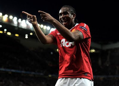 Anderson Manchester United vs Schalke 04 Champions League