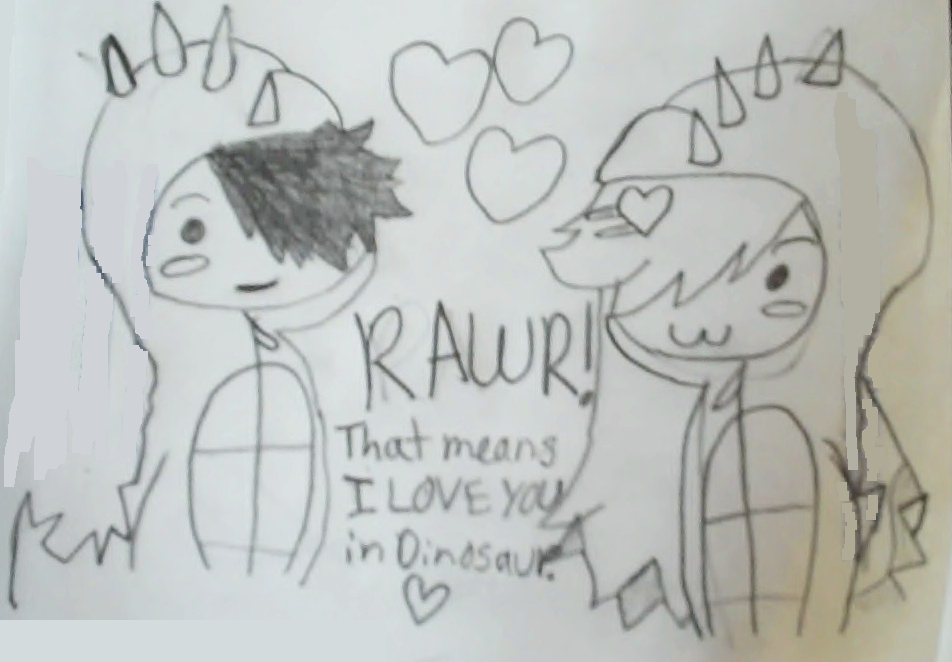 My Incredible Drawings: Rawr! That means I LOVE YOU in ...