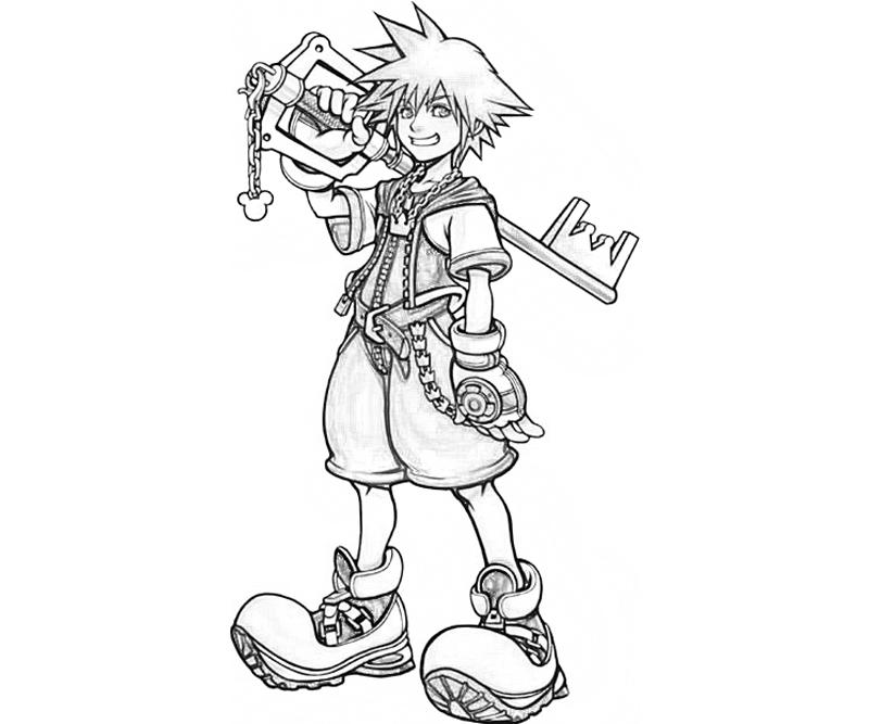 Kingdom hearts sora and kairi free coloring pages for Kingdom hearts printable coloring pages