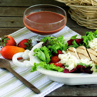 strawberry+salad+2 Grilled Chicken Salad with Strawberry Vinaigrette