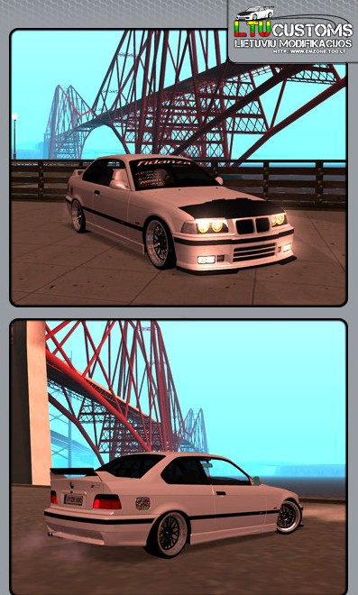 GTA: San Andreas, you can try out the new BMW E36 M3 GDM Edition mod