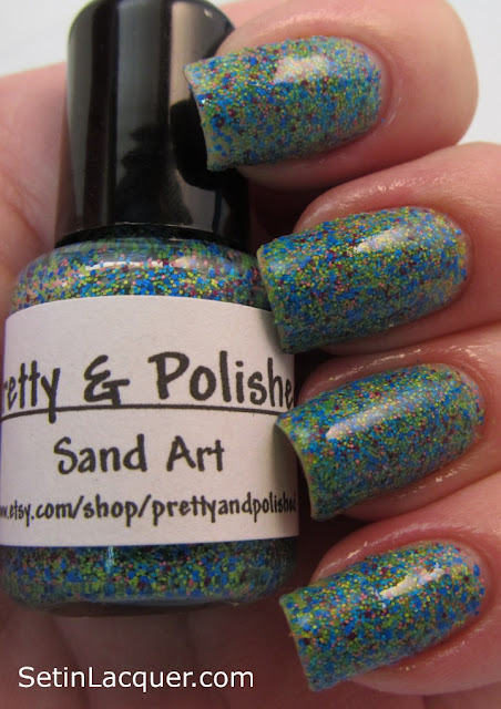 Pretty & Polished Sand Art nail polish