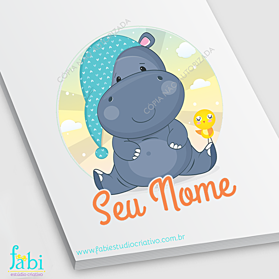 mascote pronto, logo pronta, logo fofa, hipopótamo, hipopótamo fofo, draw, cute, illustrator, children