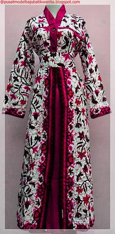 Model Baju Batik Gamis Muslim Gambar Model Baju Batik