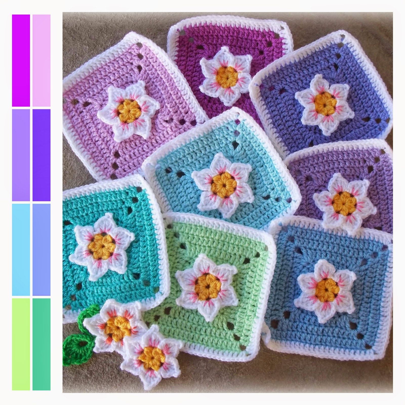 Zooty Owls Crafty Blog: Not Quite A Daffodil Square: Pattern