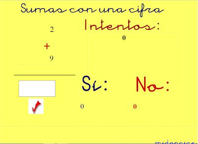 Sumas con una cifra,suma,operaciones,básicas,suma