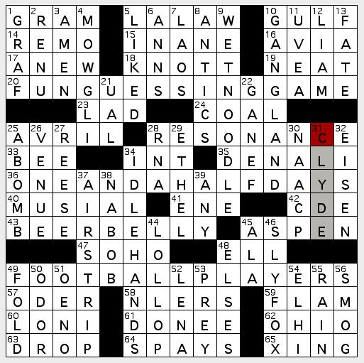 La crossword confidential september 2011 0923 fri malvernweather Gallery