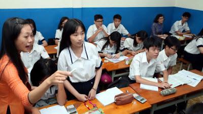 Giáo viên trong một tiết dự giờ - Ảnh: Đào Ngọc Thạch