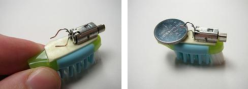 robot sikat gigi dengan battery besar