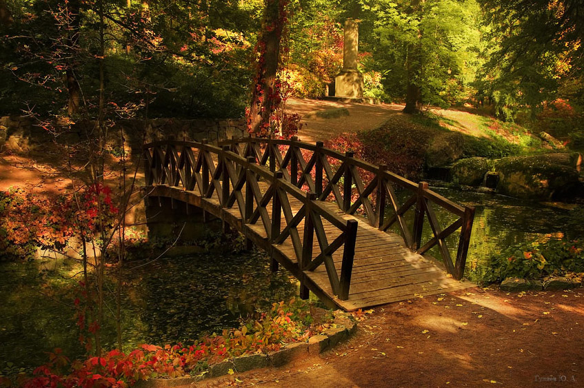 wooden bridge wallpaper - photo #1