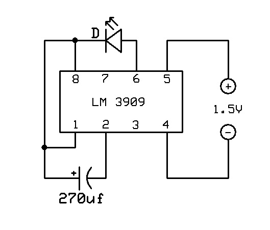 electronic circuits  led flasher
