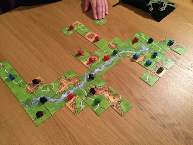 Carcassonne in progress