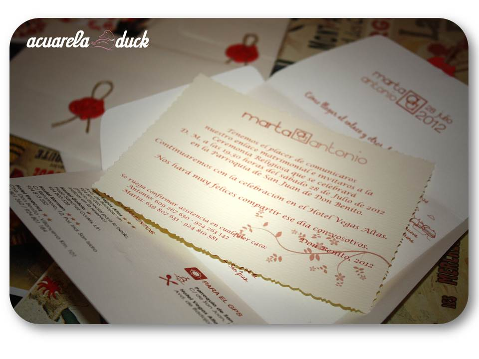 invitacion boda lacre