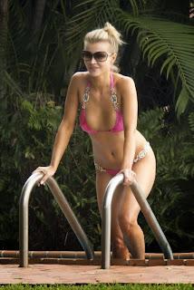 Joanna Krupa pink bikini yoga Miami