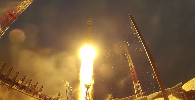 Soyuz-2.1b rocket launch with the EKS satellite. Image Credit: Russian Defense Ministry