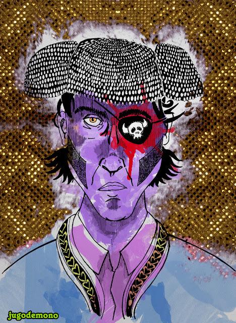 Juan José Padilla Tauromaquia  ilustración tinta coloreado digital jugodemono